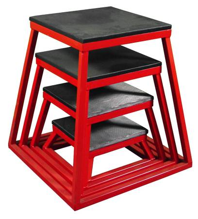 Plyo Plyometric Box Boxes Stand Stands Platform Set 12,18,24,30""